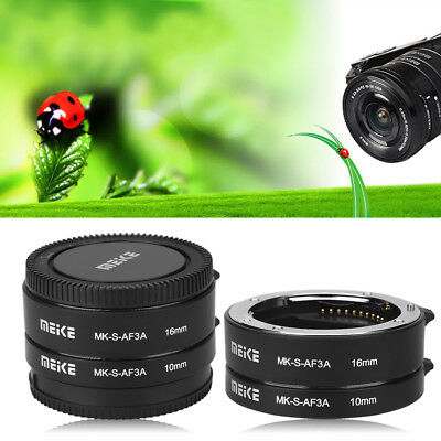 Meike MK-S-AF3A 10mm+16mm Macro Extension Tube Ring Adapter for Sony E/FE NEX3