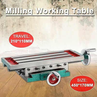 """17.7"""" x 6.7"""" Milling Machine Bench Drill Vise X Y-Axis Adjustment Table"""