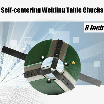WP-200 3 Jaw Self-centering Welding Table Chuck 8 Inch 80mm Holes Reversible PRO