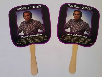Lot Of 2 Vintage George Jones Country Music Artist Hot Weather Concert Fans
