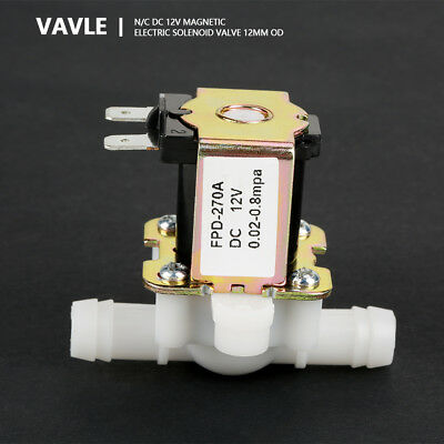 DC12V 12mm Inlet Electromagnetic Electric Solenoid Valve NC Water Flow Switch