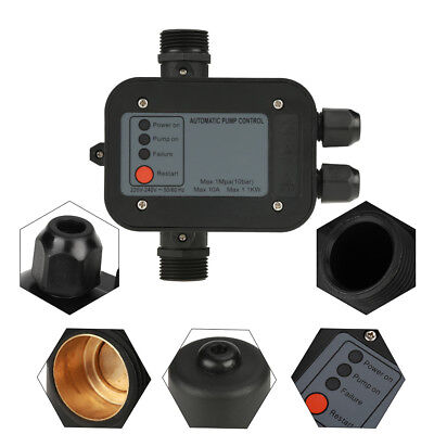 "IP65 G1"" Self-priming Water Pump Automatic Pressure Controller Switch 10Bar 220V"