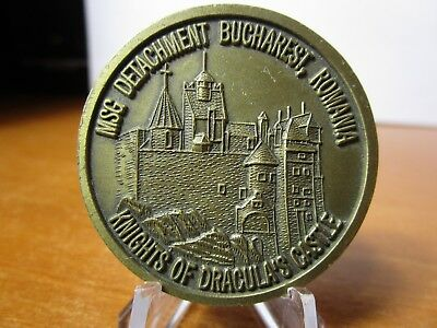 Marine Security Guard DET Bucharest Romania US Embassy USMC MSG Challenge Coin