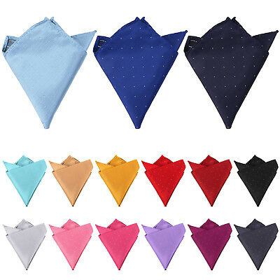 DQT Woven Polka Dot Suit Pocket Square Formal Casual Mens Handkerchief Hanky