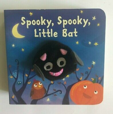 Spooky Spooky Little Bat Finger Puppet Book Kids Ages 2+ Years New Birthday Gift