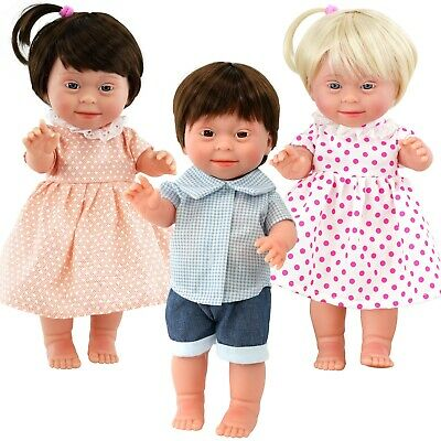 """14"""" Realistic Lifelike Soft Vinyl Baby Dolls with Downs Syndrome & Movable Limbs"""