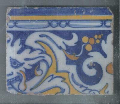 Nice Antique Spanish Tile  17 Century