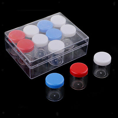 12x Storage Clear Container Plastic Jar For Small Items Crafts Bead Findings