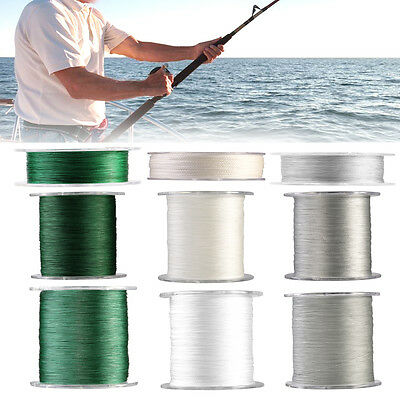 100m 300m 500m 4 Strands Strong Braided Fishing Line Cord 12LB-100LB Tackle EB