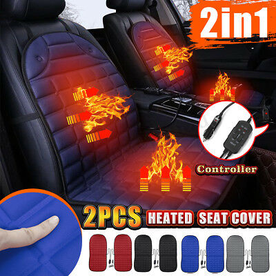 2x Car Auto Front Seat Hot Heated Pad Cushion Warmer Protector Cover Thermo 12V