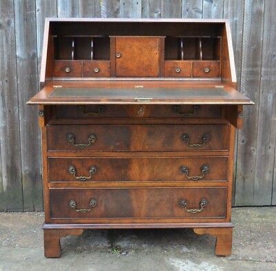 Bevan Funnell Reprodux Mahogany Writing Bureau Desk Laptop Desk Home Office Key