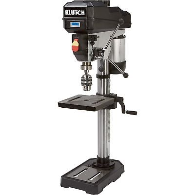 Klutch 12in. Bench Mount Drill Press - 3/4 HP, Variable Speed, Digital Display
