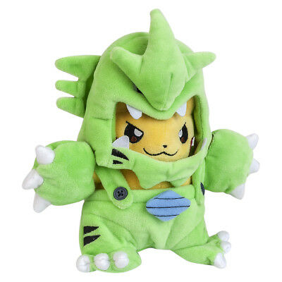 Pokemon Tyranitar Pikachu Plush Doll Figure Stuffed Toys Gift - 10 In