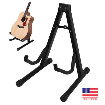 Portable Folding A-Frame Acoustic Bass Guitar Stand Floor Rack Holder Hanger Hot