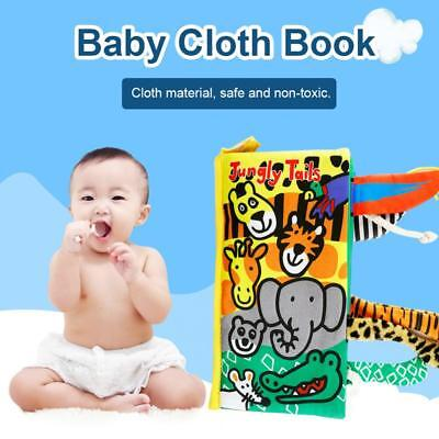 Soft Cloth Baby Book With Animals Tails Toy Newborn Baby Educational Book Toys