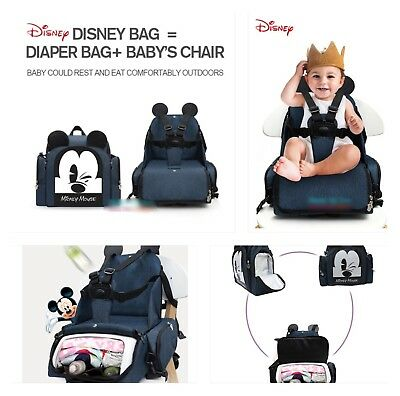 Disney Baby/Mother Changing Bag/backpack/kids Chair/seat/safety 2in1 New release