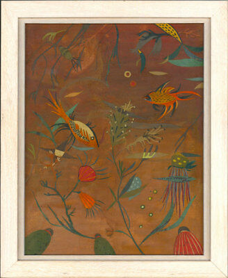 Framed 20th Century Mixed Media - Underwater Collage