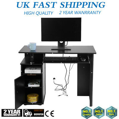 Office Computer Iron + MDF Writing Desk Home Gaming PC Furnitur Corner Table UK