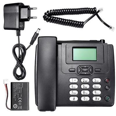 HOT Fixed Wireless GSM Desk Phone SIM Card Mobile Home Office Desktop Telephone
