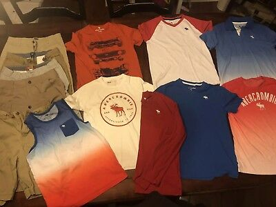 Abercrombie/ Old Nay Lot Of Clothes 13/14 Shirts And 14 Or 16 Shorts