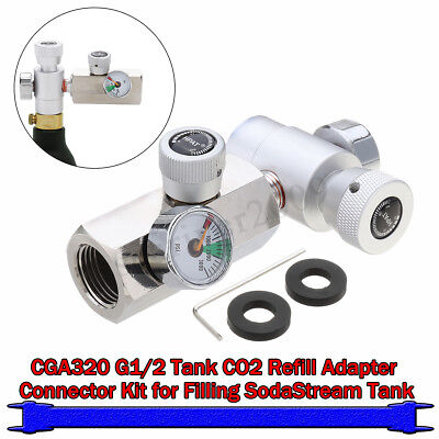 G1/2 CO2 Tank/Cylinder Refill Adapter Connector Homebrew Kit For SodaStream