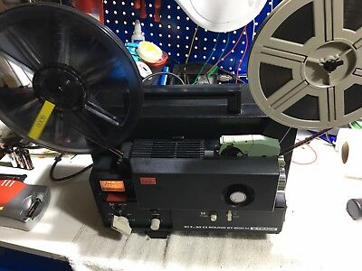 Elmo ST600M Super 8 Sound Film Projector Serviced And Ready To Use