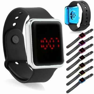 Silicone LED Men Womens Sport Watch Digital Bracelet Wrist Watches Unisex