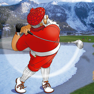 GOLF CHRISTMAS CARD - Express Delivery - Very cool Charity Christmas Card