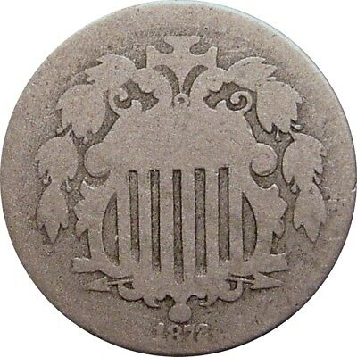 1872 Shield Nickel--Lovely About Good