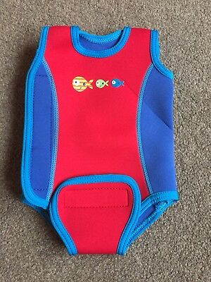 Mothercare baby Wrap wetsuit - 3-6 months, unisex Boys Girls