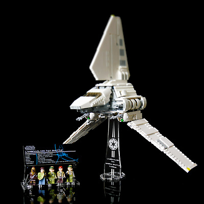 Custom Acrylic Display Stand&UCS Plaque for LEGO 75094 Imperial Shuttle Tydirium