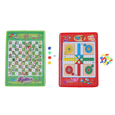 Snake & Ladder Chess Game Flight Flying Board Game for Family Kids Playing