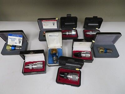 Lot of 9 Torque Watch Gages (Tohnichi & Waters) in cases - NE6