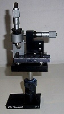 Newport 900  2-Axis Spatial Filter  STAGE w/ 2 Adjustable Micrometers CUSTOM