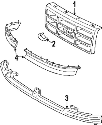 2006 Ford E350 Radiator Diagram