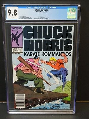 Marvel Comics Chuck Norris #3 1987 Cgc 9.8 White Pages Steve Ditko Art Newsstand
