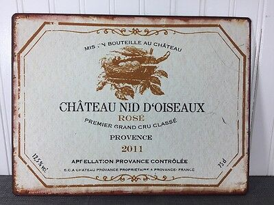 Château NID D'Oiseaux Rose Wall Hanging Sign Wine Wall Decor Barware