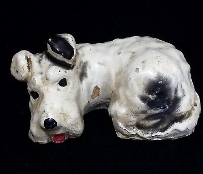 Vintage Hand Painted Wire Hair Fox Terrier Dog Figurine Unsigned Mortens 818m
