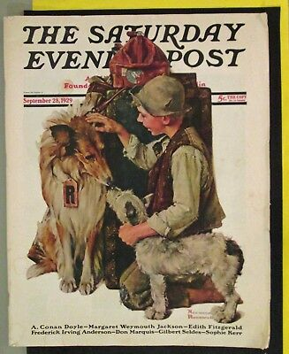 Norman Rockwell Saturday Evening Post Collie & Boy Full Issue September 28, 1929