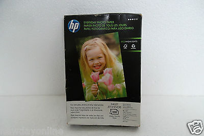 HP Everyday Semi-Gloss Photo Paper 100 Sheets 4 x 6 - inch Ink Based Q5440A NEW