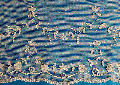 440 cms antique tape lace border - projects