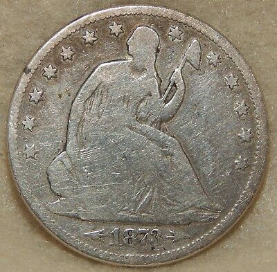 1873-Cc - Seated Liberty Half Dollar With Arrows At Date  ----  #562Z