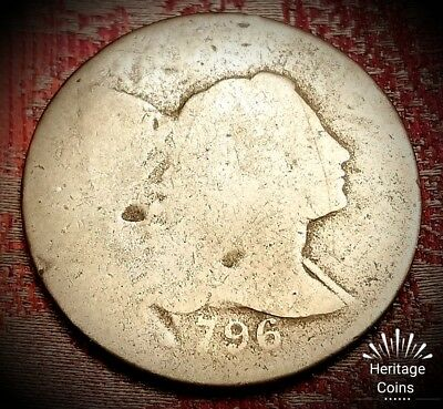 *FIRST AMERICAN COINAGE!!* 1796 Flowing Hair WITH CAP Large Cent US Coin Lot