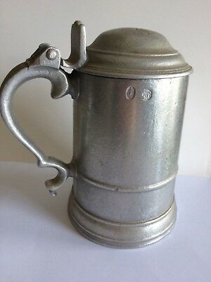 Vintage Royal Wilton Pewter (RWP) Stein Tankard w/ Lid, USA Made