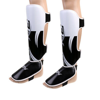 Pro Premium Shin Instep Pads MMA Leg Foot Guards Muay Thai Kick Boxing Guard