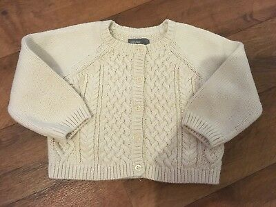 Baby Gap Girls Cable Knit Cardigan 12-18 Months