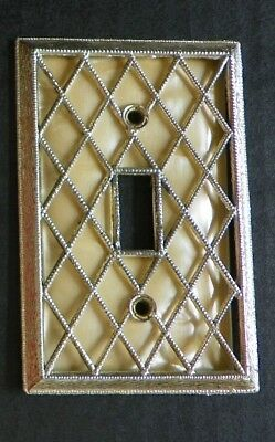 Diamond Pearl American Tack Single Toggle Switch Wall Plate Cover