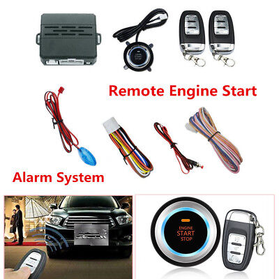 ONE BUTTON ENGINE Start Car Vibration Alarm System Security
