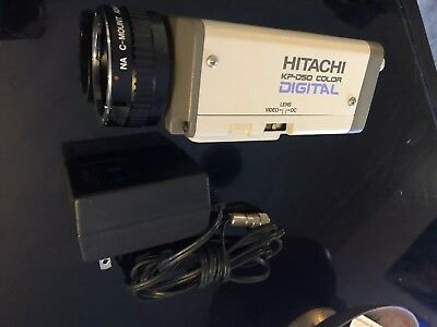 Hitachi KP-D50U Color Camera W/ C Mount adapter-DC In Cord Pre-owned/Never Used