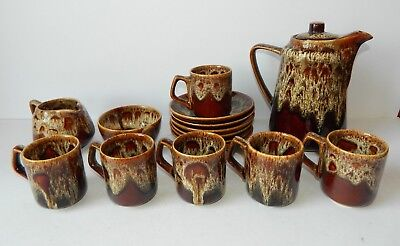 Vintage Fosters Pottery Retro Coffee Set 1970's